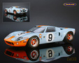 Ford GT 40 John Wyer Automotive Gulf Sieger Le Mans 1968 Rodriguez/Bianchi