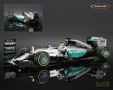 Mercedes AMG Petronas W06 F1 winner US GP 2015 + pit board World Champion Lewis Hamilton - Spark 1/18th scale. High quality resincast model car with super detailed .....