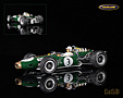 Brabham BT19 Repco V8 F1 winner German GP 1966 World Champion Jack Brabham - Spark 1/18th scale. High quality resincast model car with photo etched .....