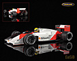 McLaren TAG Porsche MP4/3 F1 tests 1987 Ayrton Senna - Minichamps 1/18th scale. Highly detailed resincast model car with photo .....