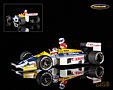 Williams FW11 Honda V6 F1 German GP 1986 Nelson Piquet taxi with Keke Rosberg - Minichamps 1/18th scale. High quality resincast model car with photo etched .....