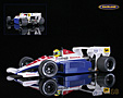 Toleman-Hart TG183b Candy F1 1984 Ayrton Senna - Minichamps 1/18th scale. High quality diecast model car 1/18th scale. Limited .....