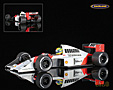 McLaren-Honda MP4-5 F1 1989 Ayrton Senna - Minichamps 1/18th scale. High quality diecast model car 1/18th scale. Limited .....