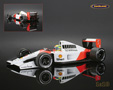 McLaren-Honda MP4-7 F1 1992 Ayrton Senna - Minichamps 1/18th scale. High quality diecast model car 1/18th scale. Limited .....