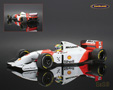 McLaren-Ford MP4-8 F1 1993 Ayrton Senna - Minichamps 1/18th scale. High quality diecast model car 1/18th scale. Limited .....