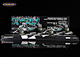 F1 Gift Set F1 constructors World Champion Formula 1 2015 with 2 Mercedes W06 F1 models