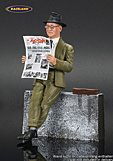 Figure Enzo Ferrari with newspaper