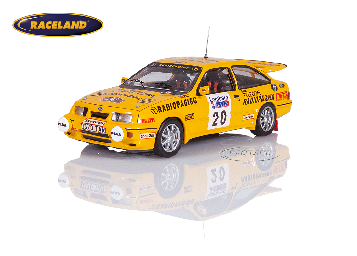 Ford Sierra RS Cosworth Telecom RAC Lombard Rally 1987 Lovell/Freeman