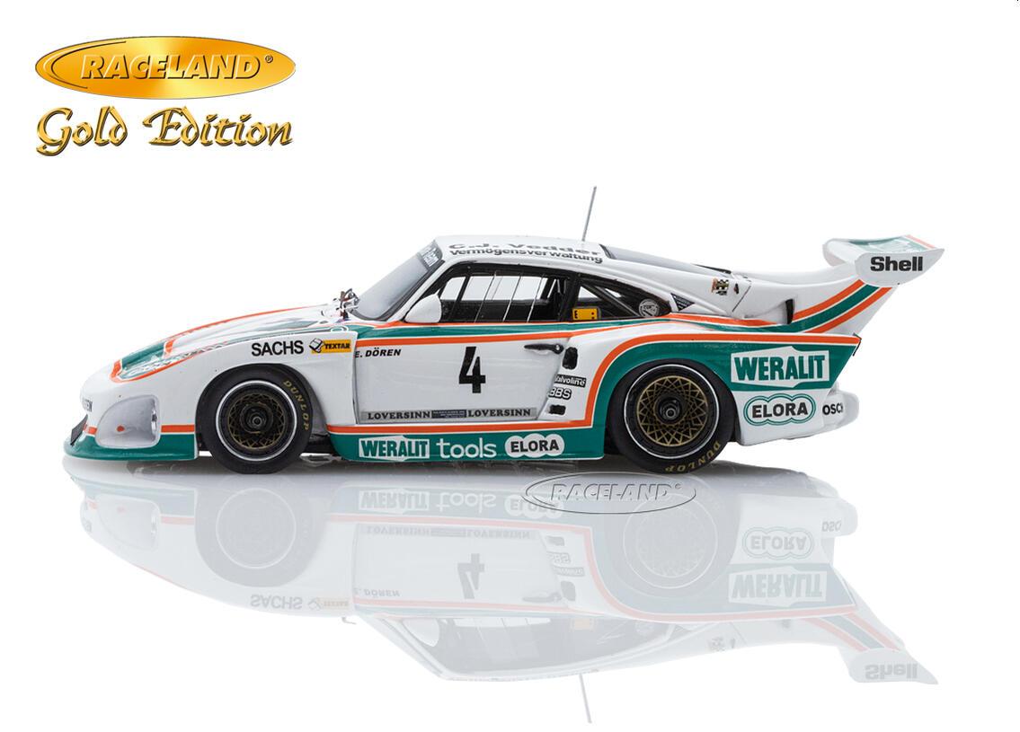 Raceland Spark 1:43 Porsche 935 K3 Weralit Elora 3° DRM Zolder 1980 Edgar Dören