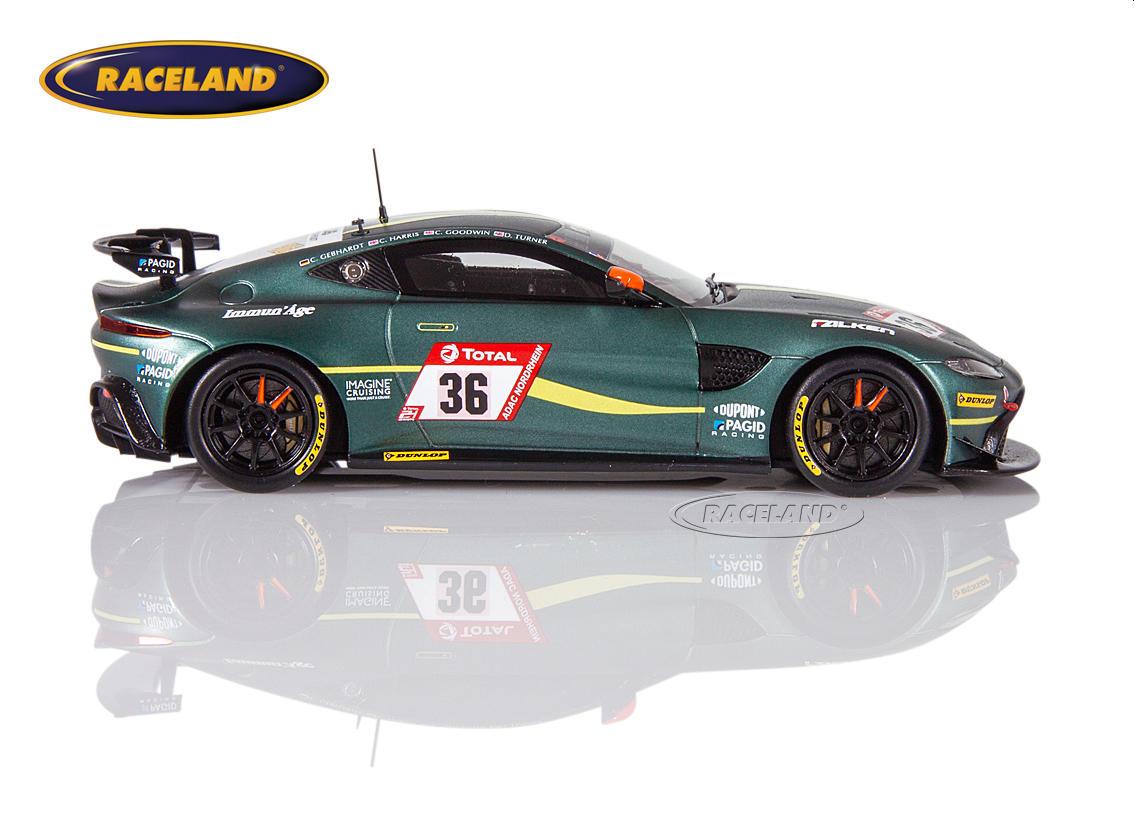 Aston Martin Vantage Amr Gt4 Amr Performance Centre 24h Nürburgring 2019 Turner Goodwin Gebhardt Maßstab 1 43 2019 24h Nürburgring Motorsport