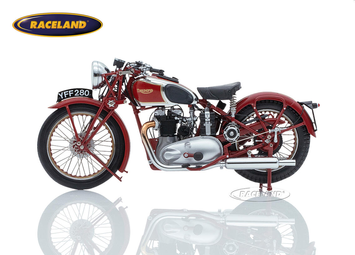 Triumph Speed Twin 1939 dunkelrot Bild 3