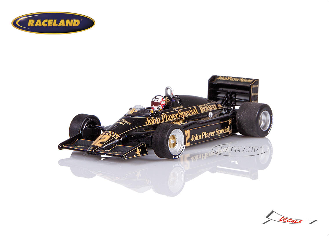 Lotus 94T Renault V6 Turbo F1 Team JPS 4° GP England 1983 Nigel Mansell