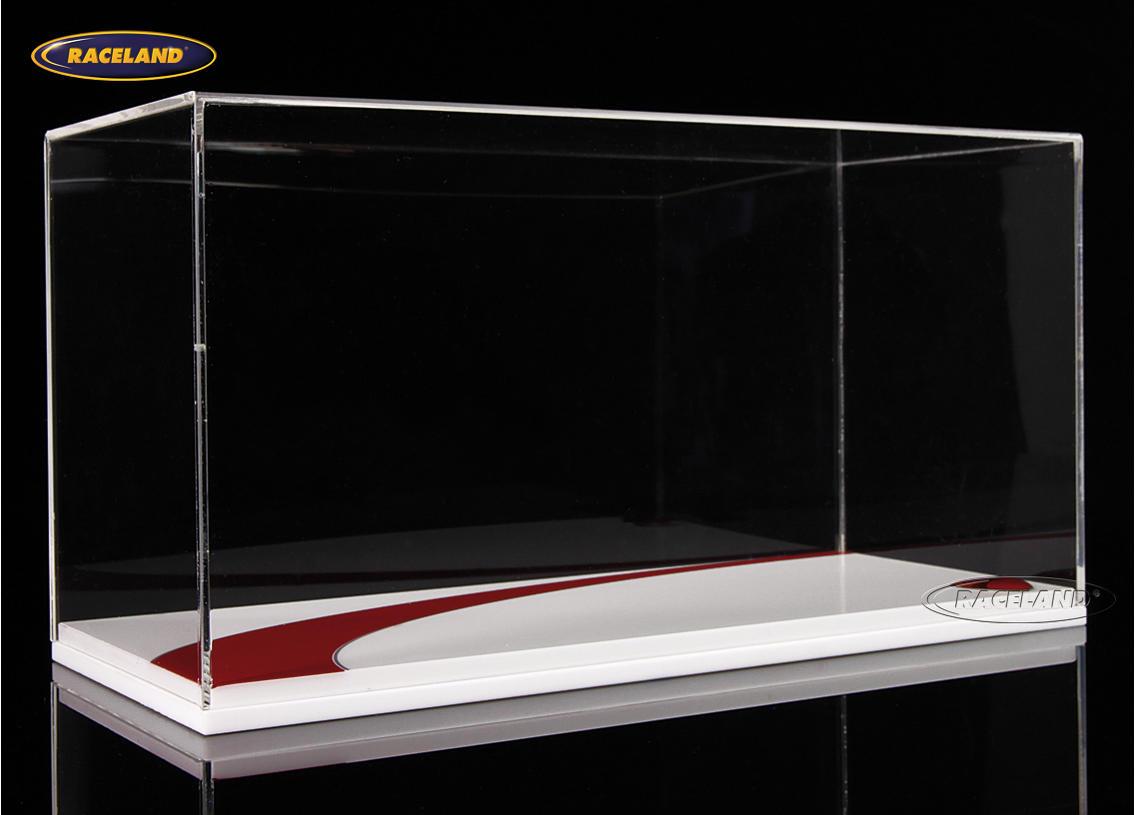 vitrine f r motorrad modelle sockel wei rot mit ducati logo ma stab 1 12 2010 2019 moderne. Black Bedroom Furniture Sets. Home Design Ideas