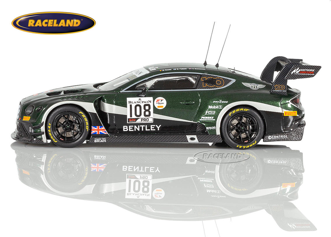 Bentley Continental GT3 M-Sport Team Bentley 24H Spa 2019 Markus Palttala, Alex Buncombe, Maxime Soulet Bild 4