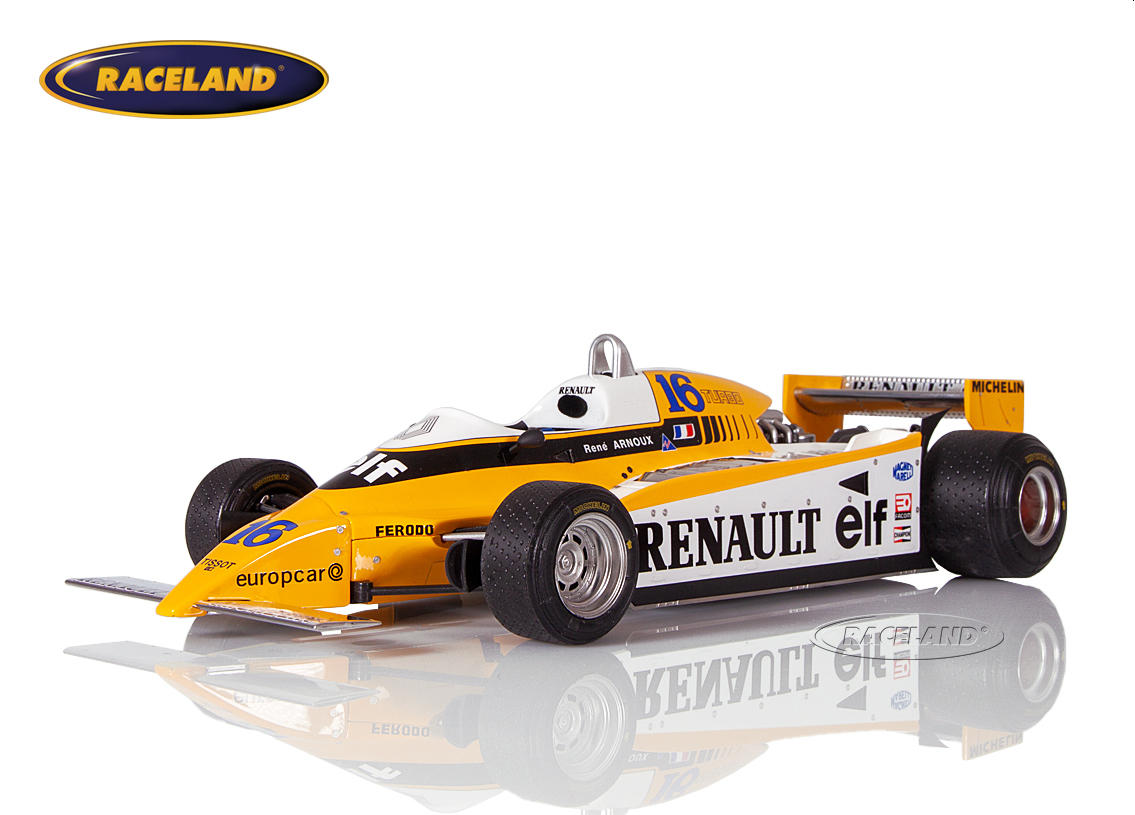 Renault RE20 V6 Turbo F1 elf 1980 René Arnoux