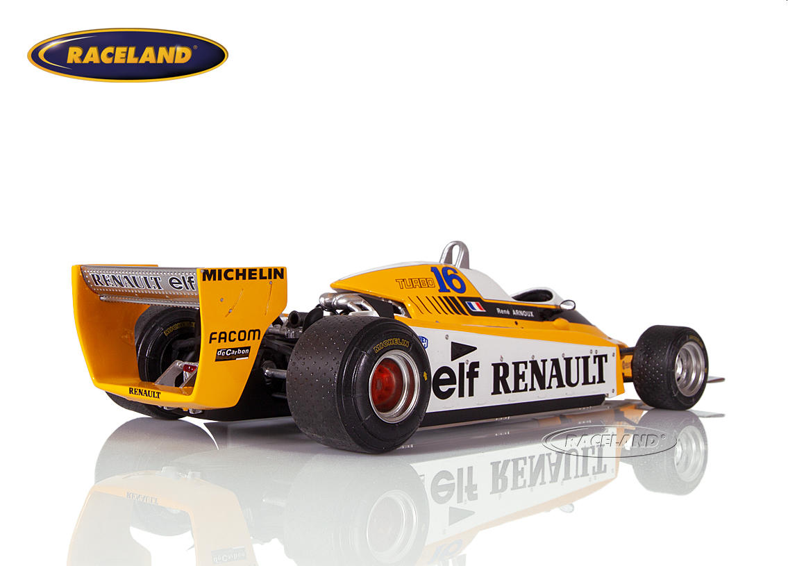 Renault RE20 V6 Turbo F1 elf 1980 René Arnoux Bild 2