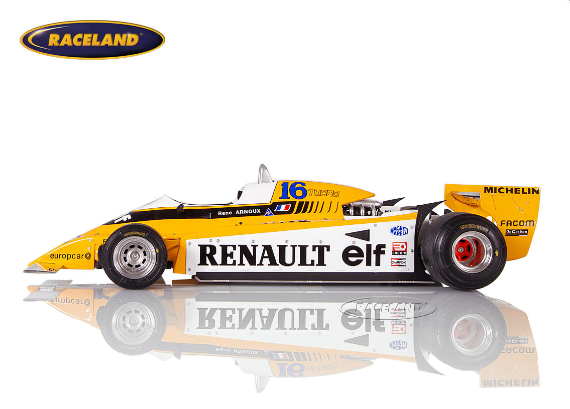 Renault RE20 V6 Turbo F1 elf 1980 René Arnoux Bild 3